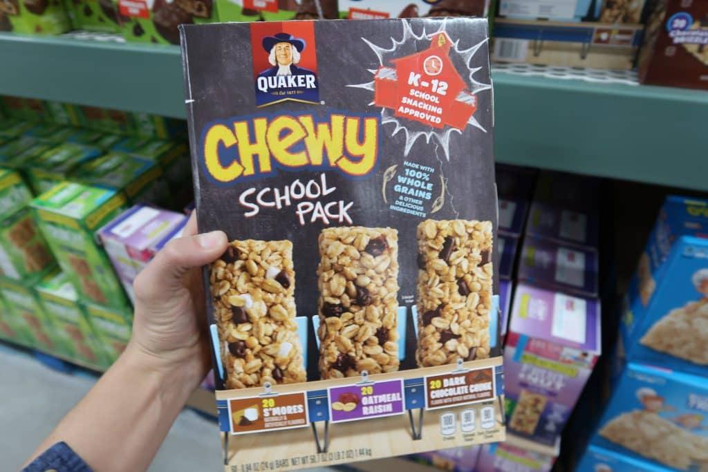 chewy qauker granola bars deal at bjs