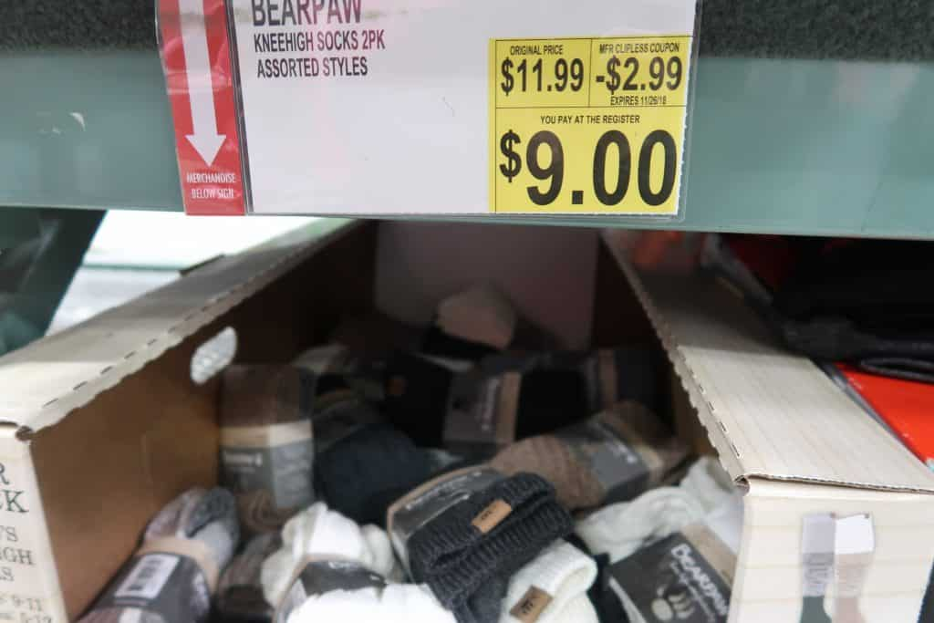 bearpaw socks deal at BJS
