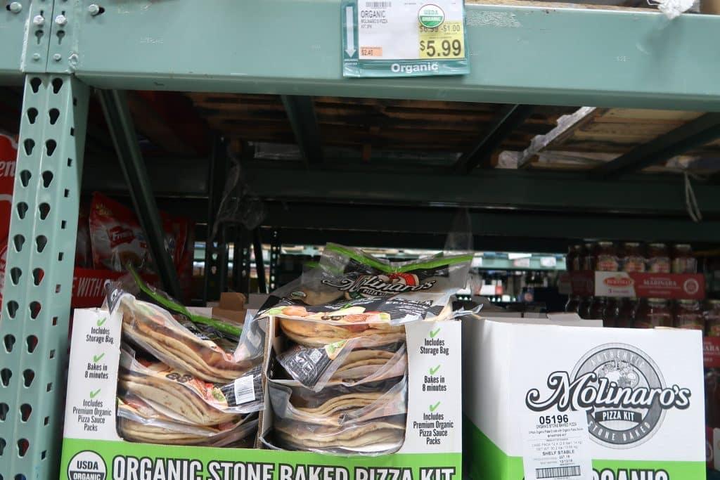 molinaro's organic pizza kit bjs