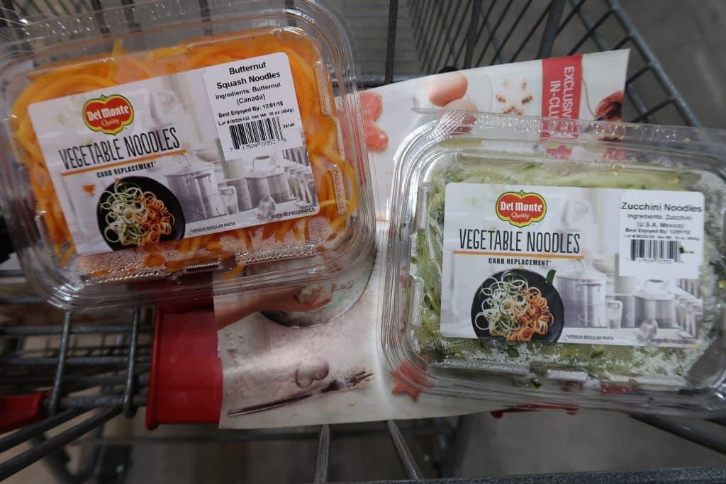 squash-noodles ready  to go at BJs
