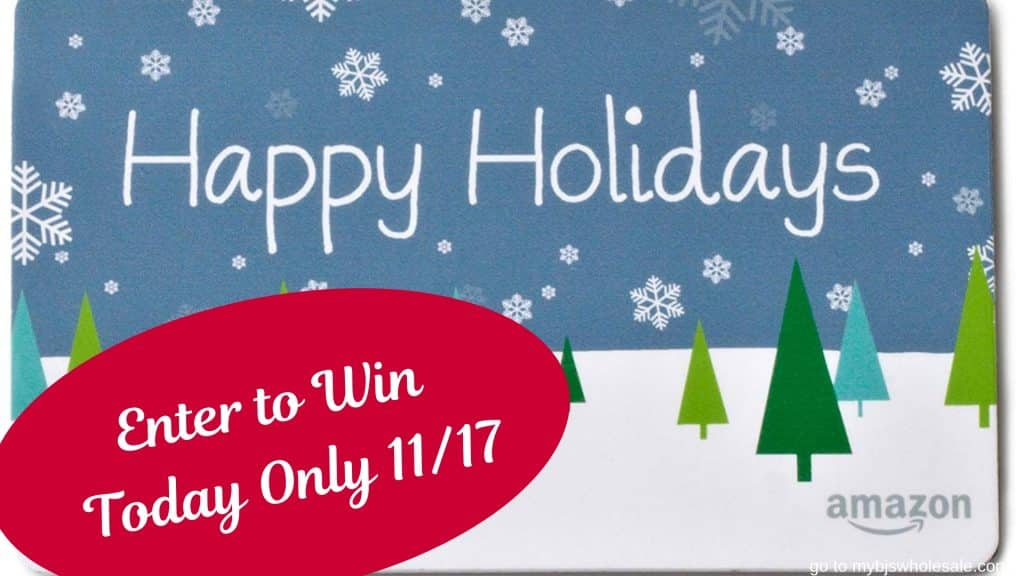 enter to win an amazon gift card today on mybjswholesale