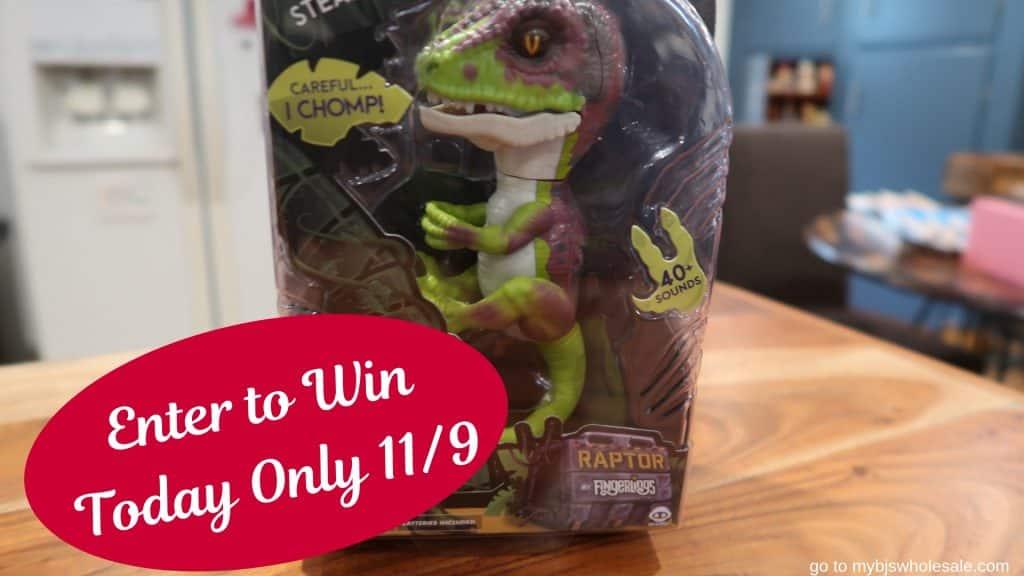 win a raptor fingerling mybjswholesale giveaway