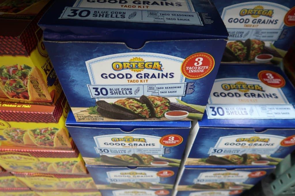 ortega good grains blue corn taco kit at BJs