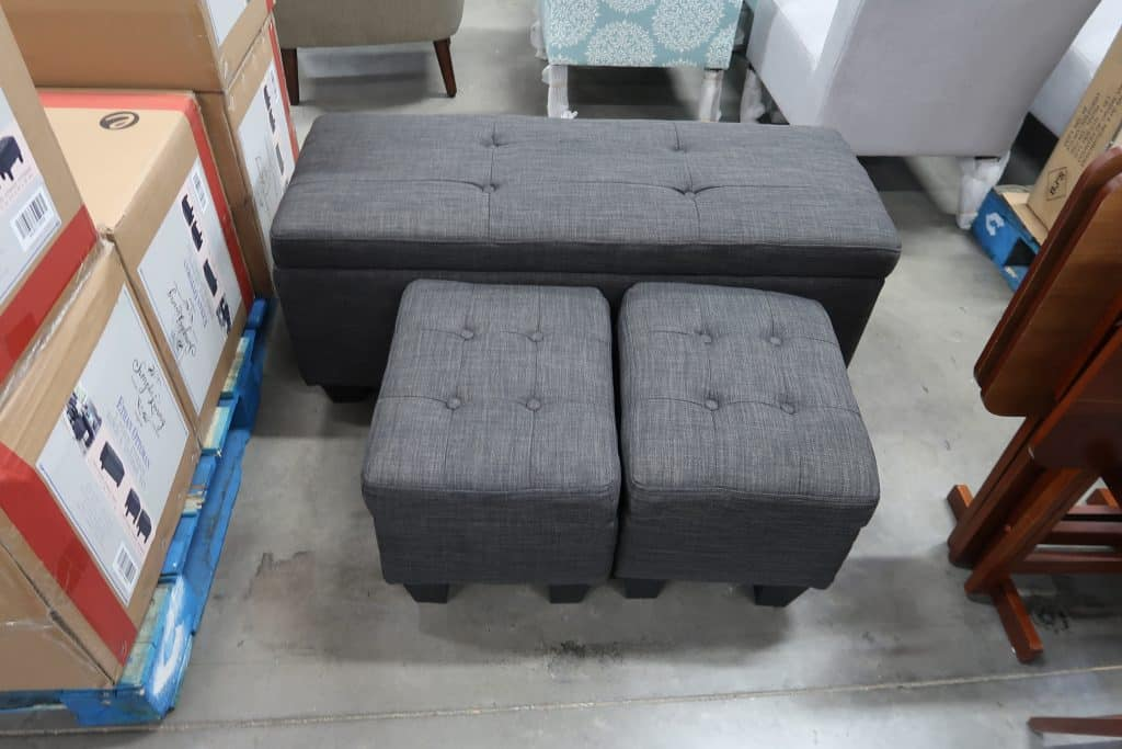 3 pc ottoman and bench