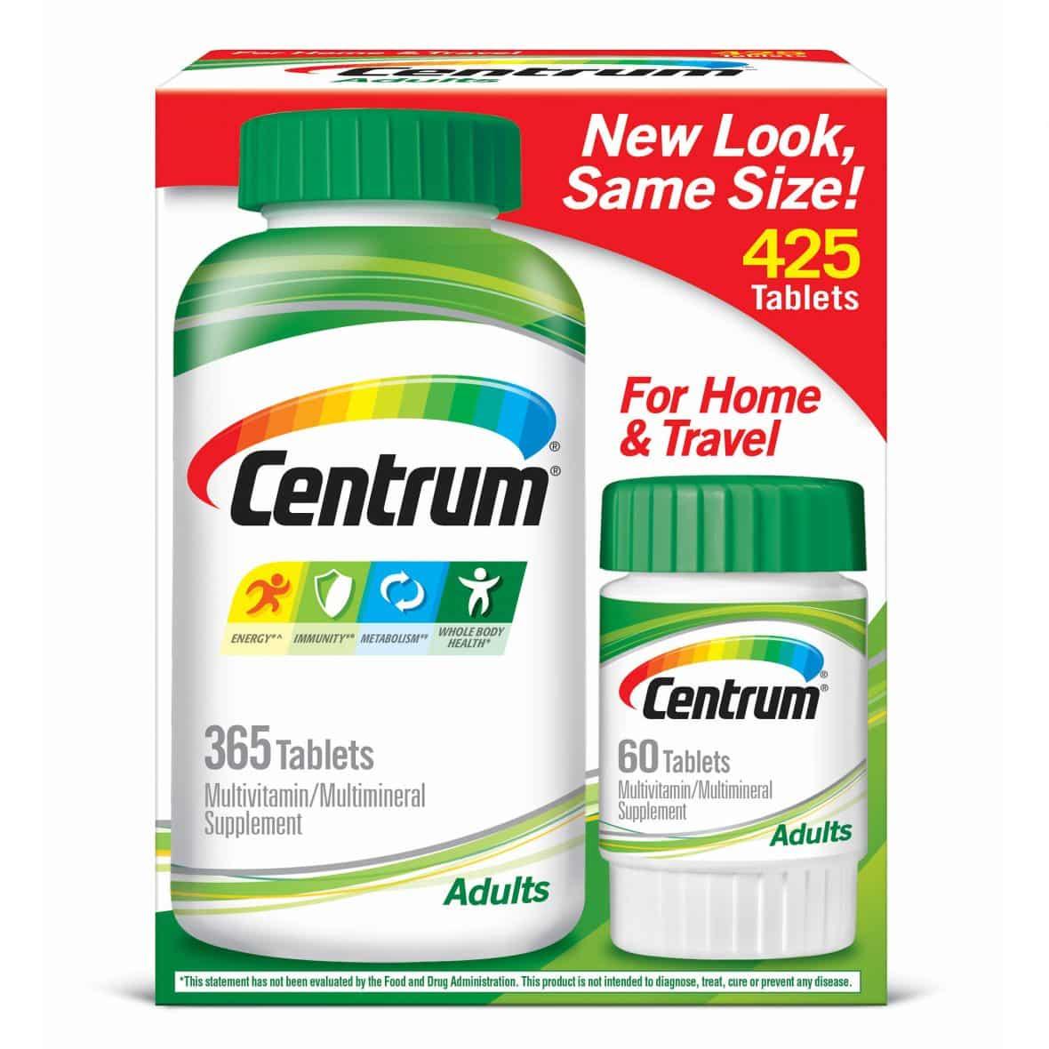 Centrum Multivitamins 425 ct. $15.99 ( Org. $19.99)