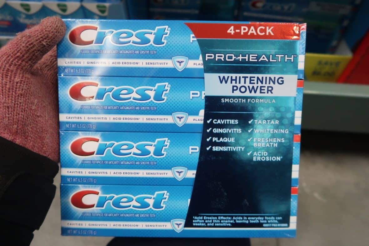 crest toothpaste at BJs