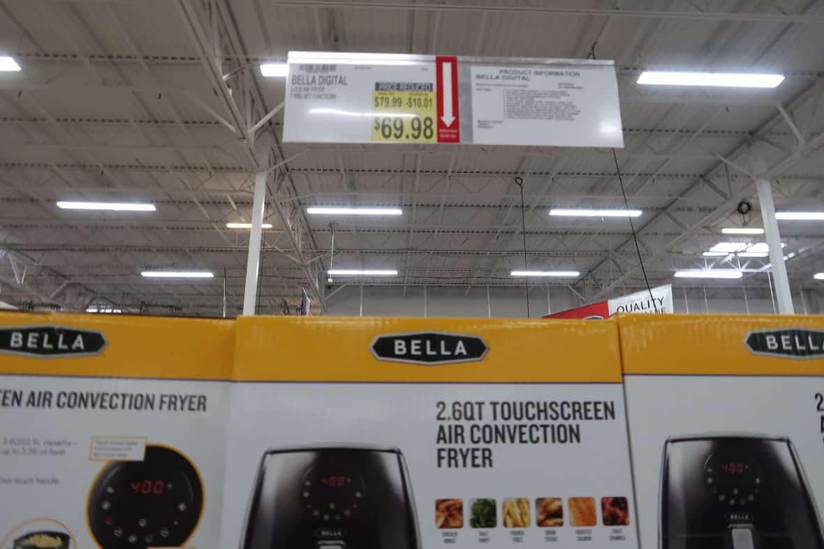 bella air fryer deal at BJs wholesale club