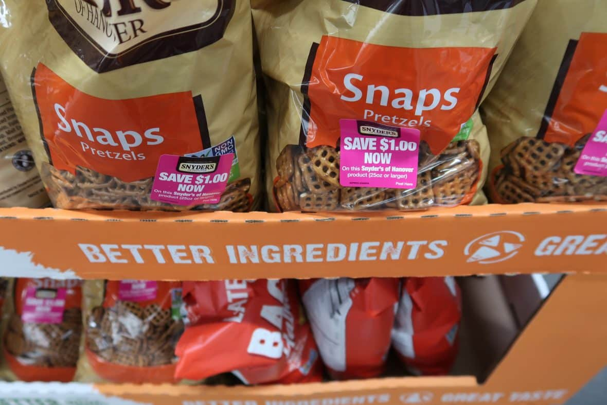 snyder's snaps pretzels coupon at BJs