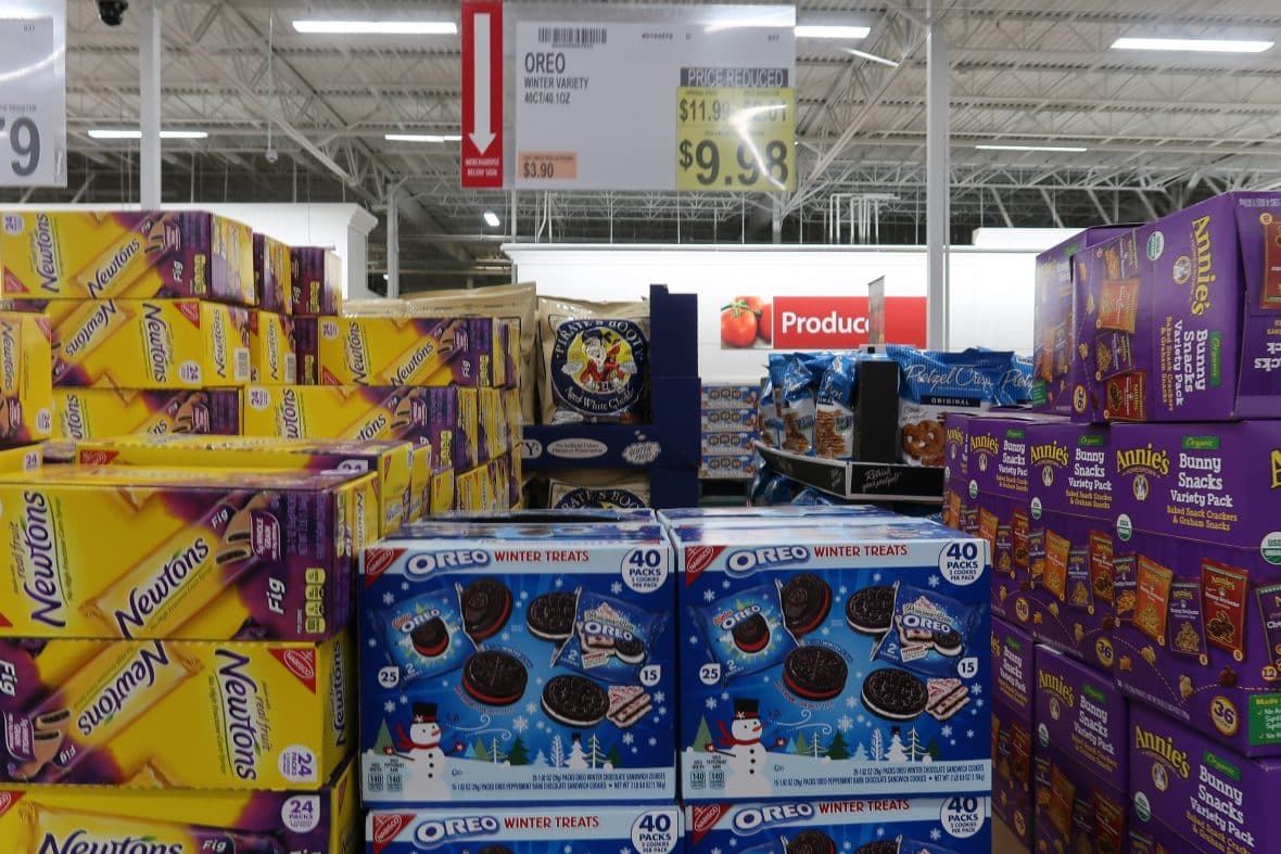 oreo winter cookies marked down at BJs