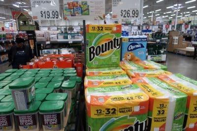 bounty paper towel at BJs