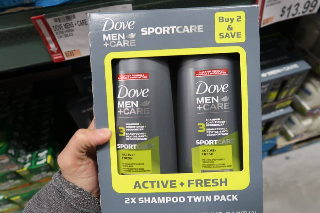 dove men bodywash at BJs