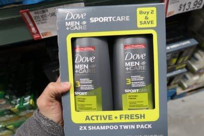 dove men bodywash at BJs
