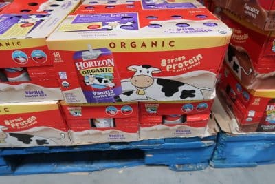 horizon organic milk at Costco