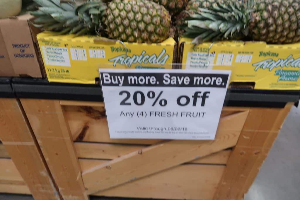 fresh fruit at BJs for coupon