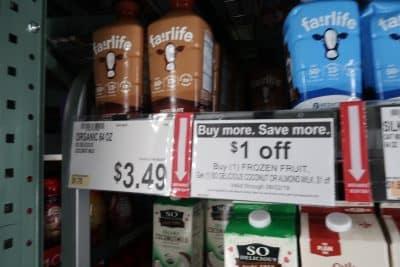 fair life milk deal at BJs