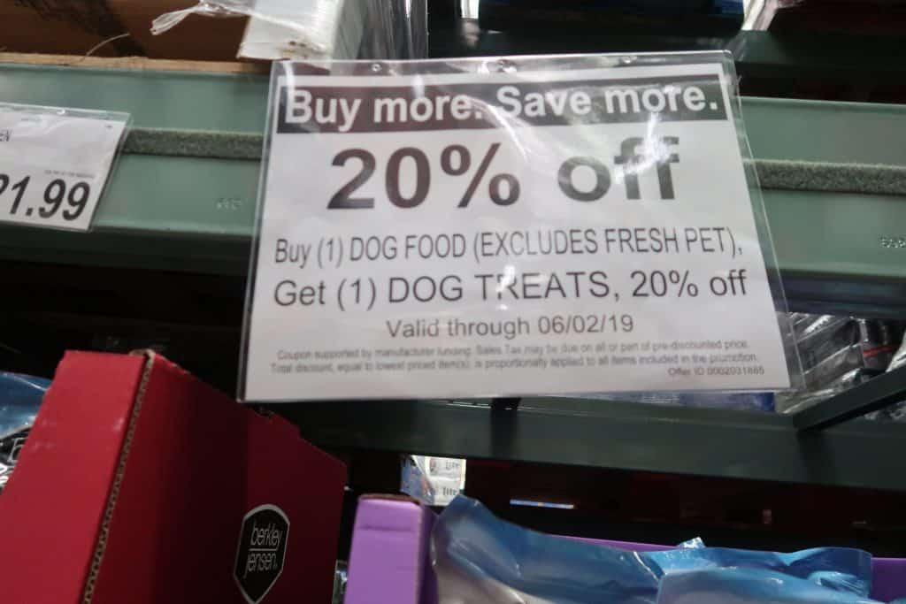 Dog food BJs coupon new