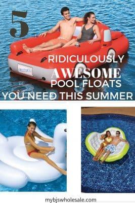 pool floats supplies at BJs