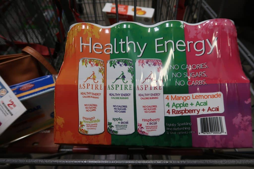aspire energy drink deal coupon at BJs