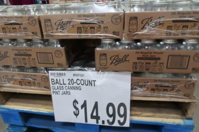ball canning jars at BJs