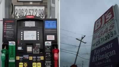 costco gas or bjs gas this week