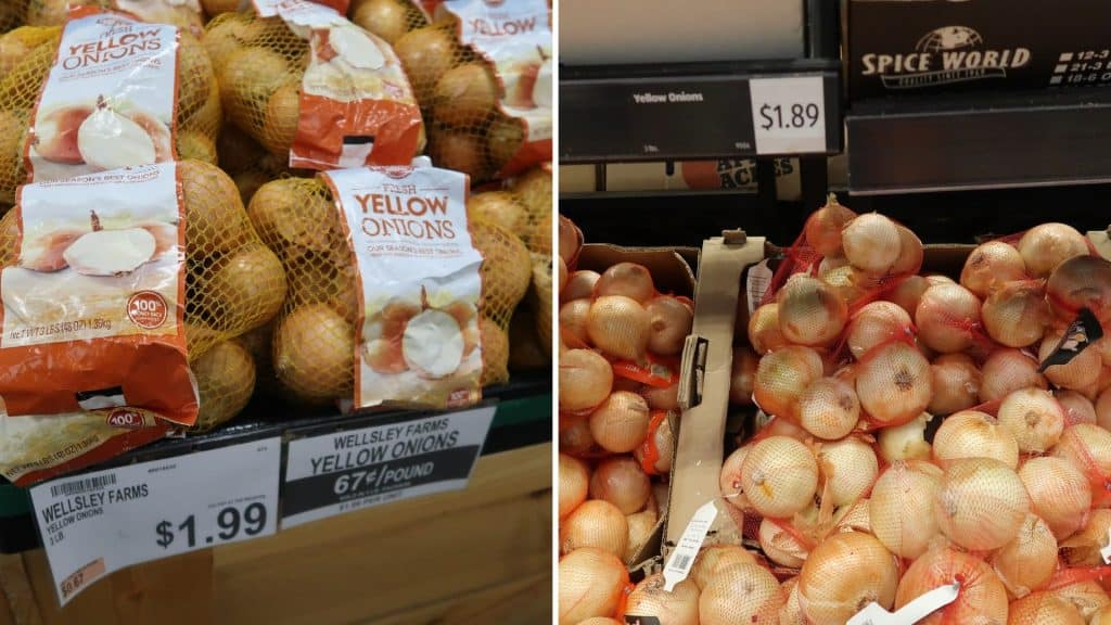 bjs vs aldi price compare produce