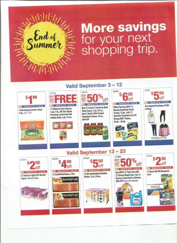 New Bonus Bjs Coupon Sheet Starts 9 3 My Bjs Wholesale Club