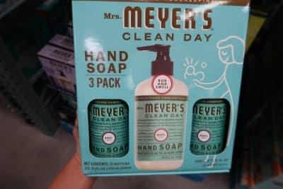 mrs. meyer's hand soap at BJs