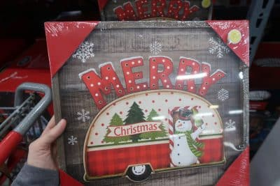 merry christmas home decor sign at BJs wholesale