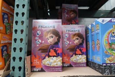 frozen 2 cereal at BJs wholesale club