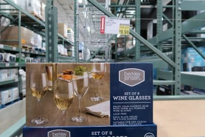 berkley jensen wine stem glasses