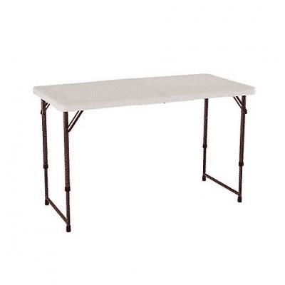 lifetime 4' light commercial folding table