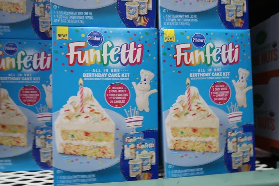 Funfetti Birthday Cake Set $6.50