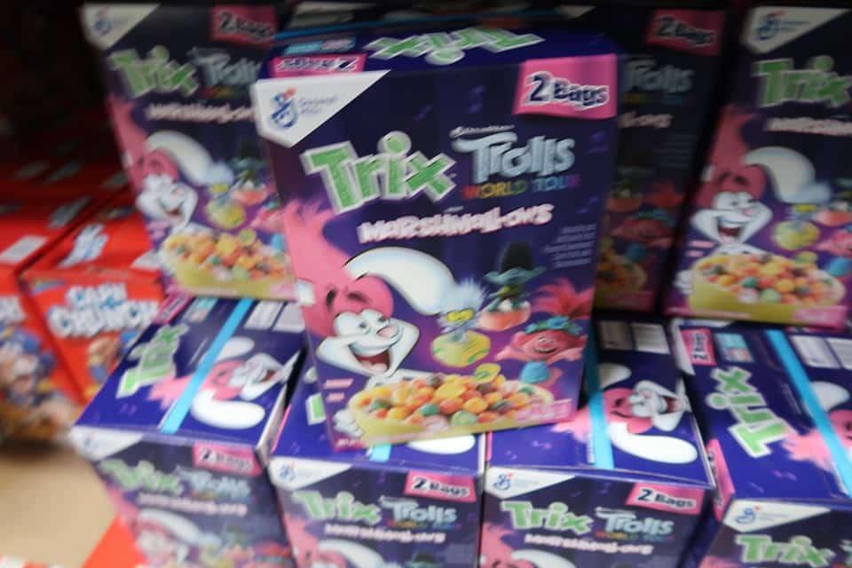 General Mills Trolls Trix Cereal 2pk $5.99