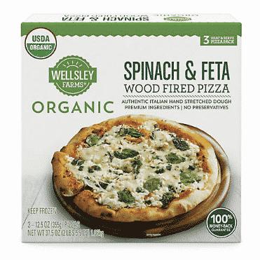wellsley farms organic spinach feta pizza