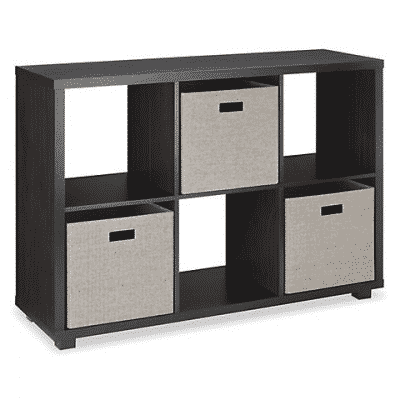 whitmor 6 section cube organizer