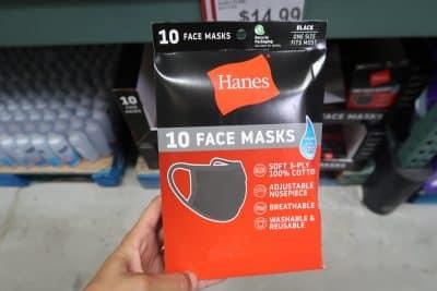 hanes face masks at bjs