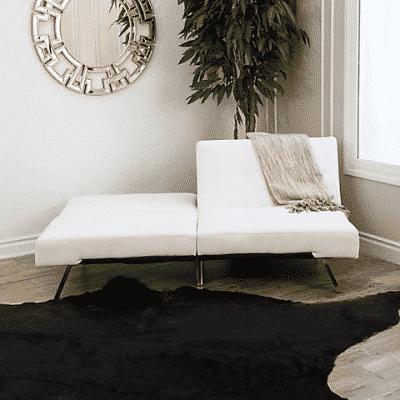 abbyson living milano leather convertible sofa
