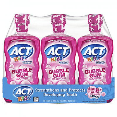 act kids bubblegum blowout rinse 3ct