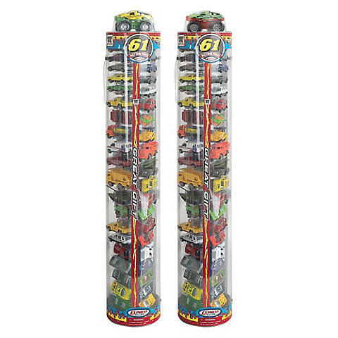 Express Wheels Car Toys Tube Set 61pc $11.99