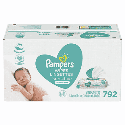 Pampers Sensitive Baby Wipes, 792 ct $15.99