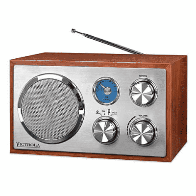 victrola vintage wooden bluetooth speaker