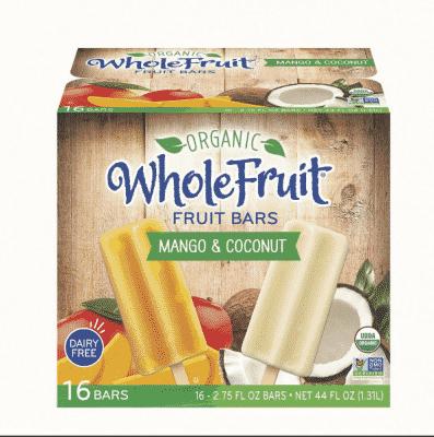 organic whole fruit bars at bjs
