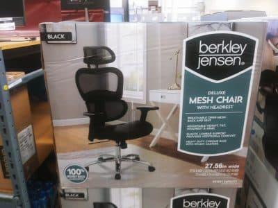 BJs Deluxe Black Mesh Office Chair