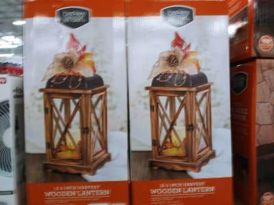 Berkley Jensen Wooden Harvest Lantern