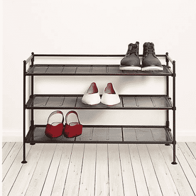 3 tier utility and shoe rack