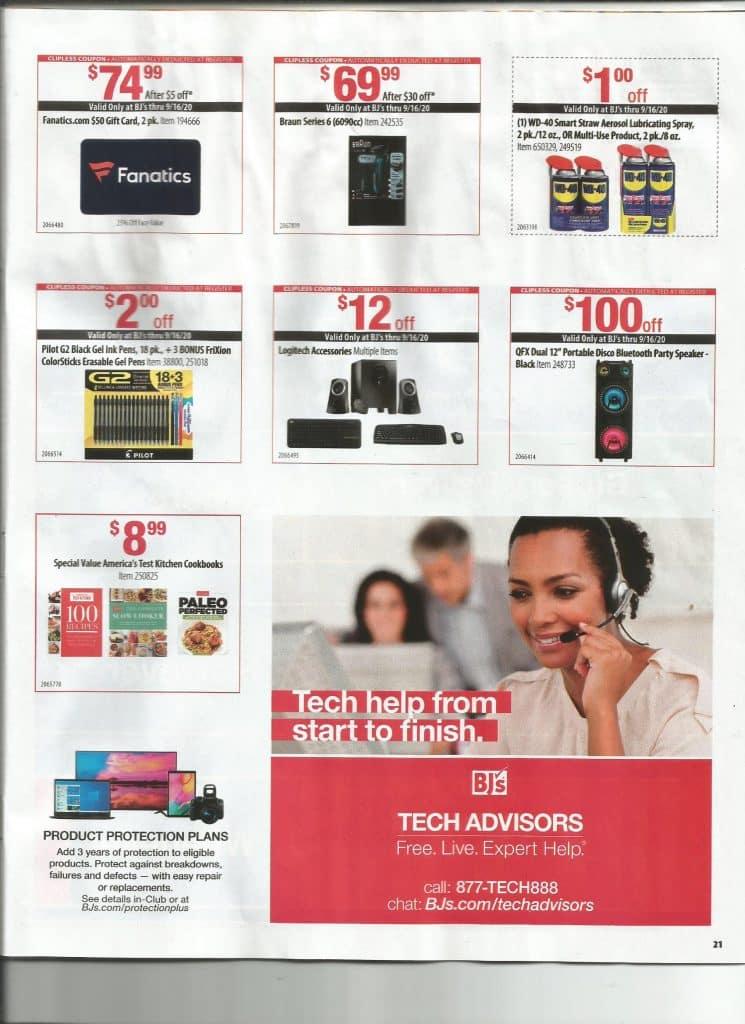 bjs front of door coupon books