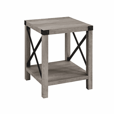 w.trends farmhouse 18 side end table