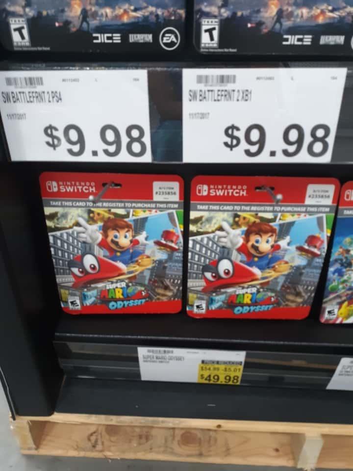Switch Super Mario Odyssey $49.98