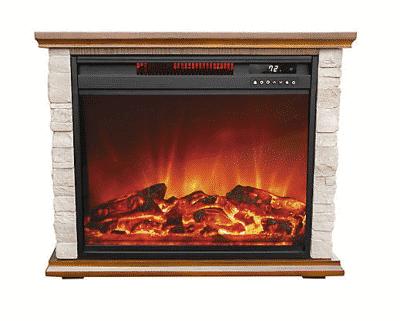 lifesmart portable compact stone fireplace