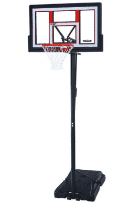 "lifetime 50"" adjustable portable basketball hoop"